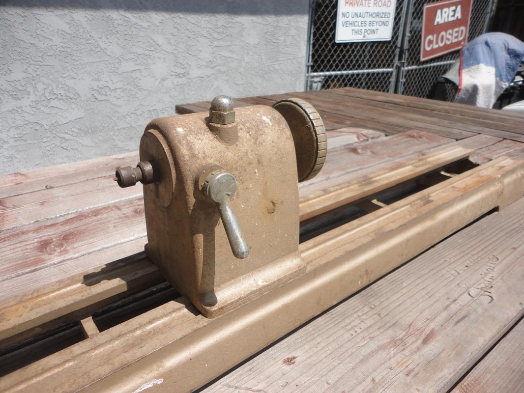 Vtg 9 Inch Craftsman Bench Top Wood Lathe 32 Inch Centers Ebay